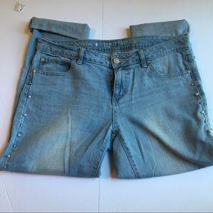 Jennifer Lopez embellished boyfriend jeans